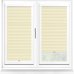 Bianca Cream Perfect Fit Pleated Blind
