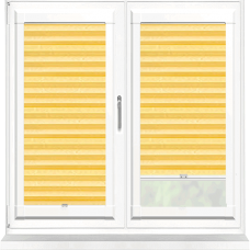 Bianca Gold Perfect Fit Pleated Blind