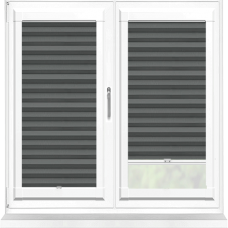 Bianca Graphite Perfect Fit Pleated Blind