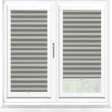Bianca Grey Perfect Fit Pleated Blind