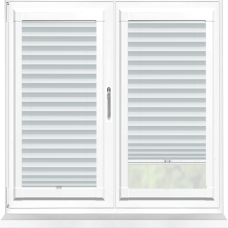 Galaxy ASC Blackout White Perfect Fit Pleated Blind