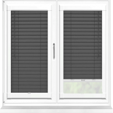 Charcoal Perfect Fit 25mm Venetian Blind