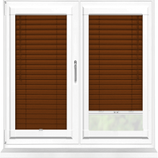 Mahogany Wood Effect Perfect Fit 25mm Venetian Blind