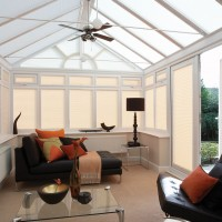 Infusion Cream Pleated Perfect Fit Conservatory